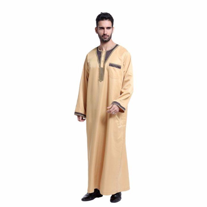 Qamis pour homme sahara avec manches longues et poche.