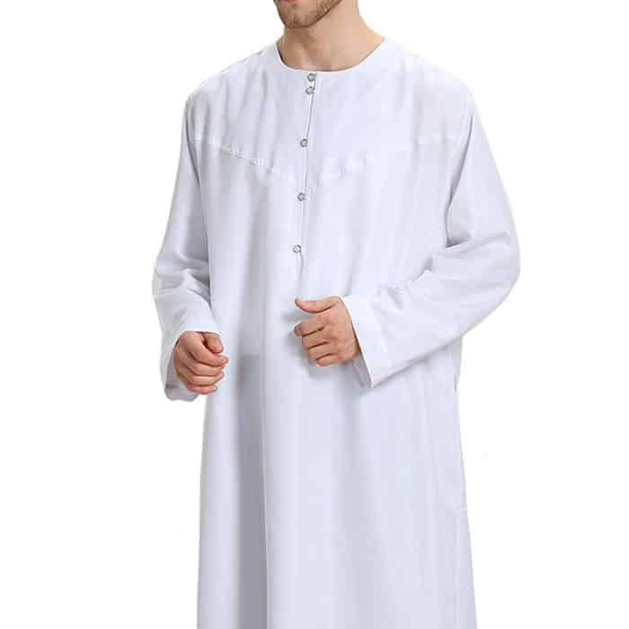 Djellaba homme blanc satiné Dubai