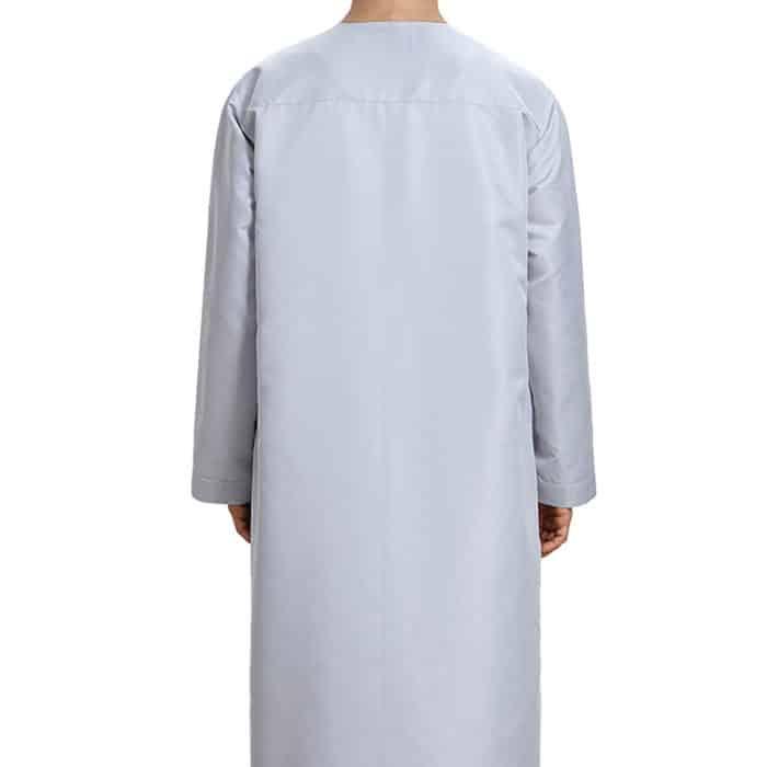 Djellaba homme gris satiné Dubai