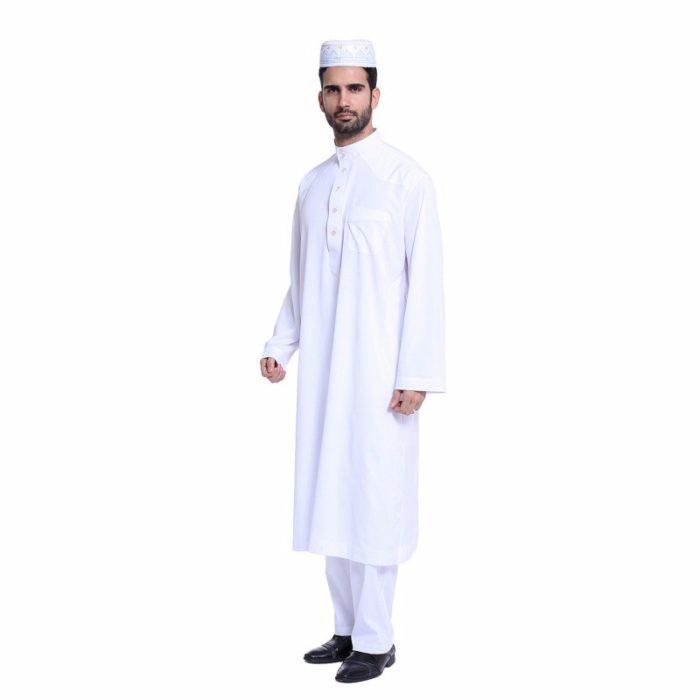 Djellaba homme haut et bas blanc