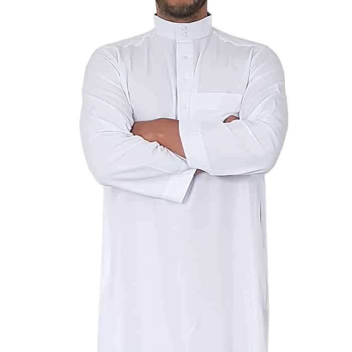 Qamis saoudi blanc manches longues