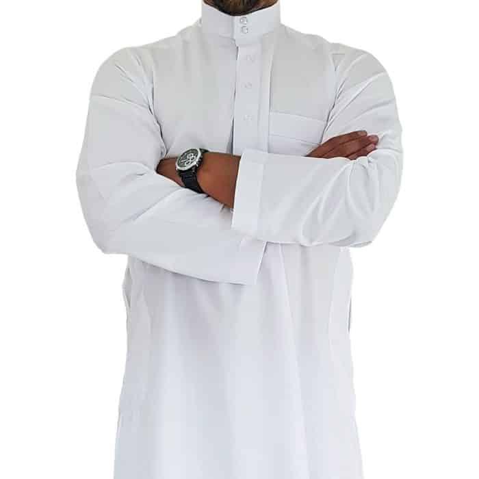 Ensemble qamis pantalon saoudien blanc khal