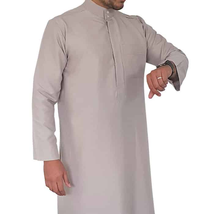 Qamis Homme Doha Beige Taupe